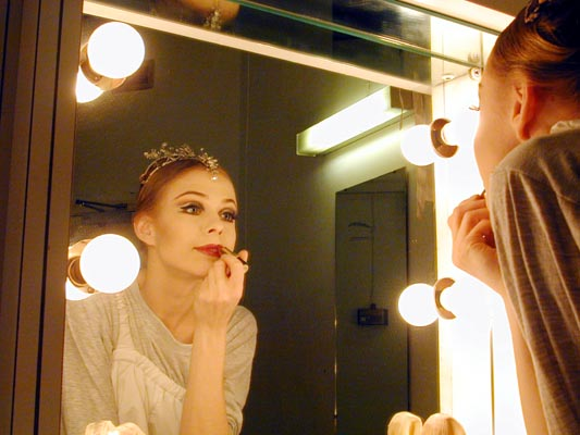 Agnes in her dressing room