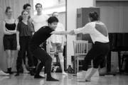 Nataša Novotná teaching contemporary at the International Ballet Masterclasses, Prague on August 06 2019. Photo: Arnaud Stephenson