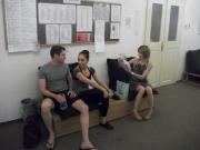 Roberta and Daria between classes