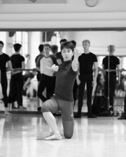 Vladimir Shishov teaching boys solo at the International Ballet Masterclasses, Prague on August 01 2019. Photo: Arnaud Stephenson